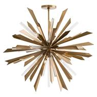 Arteriors Lighting Waldorf Large Chandelier 89029 - Steel