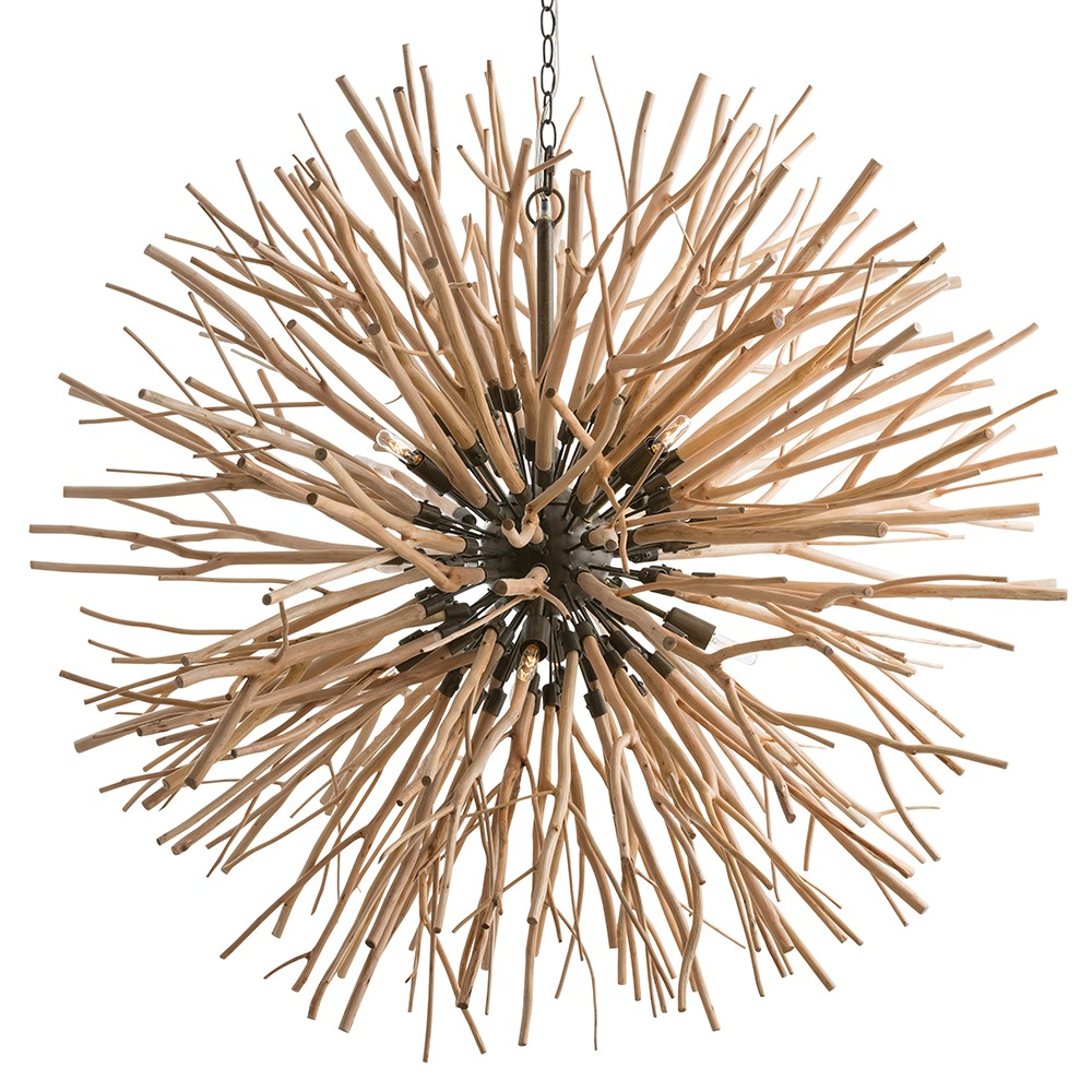 Arteriors Lighting Finch Chandelier 89560 - Wood