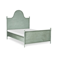 Corsican Furniture Standard Camel Hump Metal Panel Bed