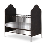 Corsican Furniture Stationary Camel Hump Metal Panel Crib