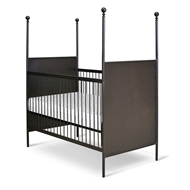 Corsican Furniture Stationary Four Post Metal Panel Crib