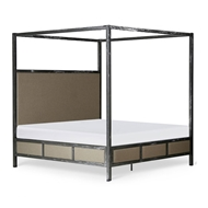 Corsican Furniture Upholstered Canopy Bed 43714