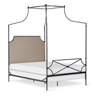Corsican Furniture Upholstered Olivia Canopy Bed 43706