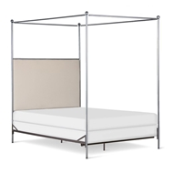 Corsican Furniture Upholstered Open End Canopy Bed
