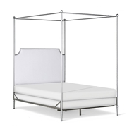 Corsican Furniture Company Upholstered Open End Olivia Canopy Bed 43708
