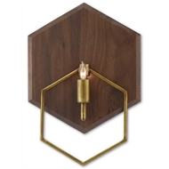 Currey & Company Lighting Double Hex Wall Sconce 5000-0075