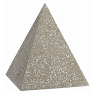 Currey & Company Home Abalone Large Concrete Pyramid