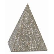 Currey & Company Home Abalone Small Concrete Pyramid 1200-0044 - Abalone