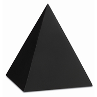 Currey & Company Home Black Large Concrete Pyramid