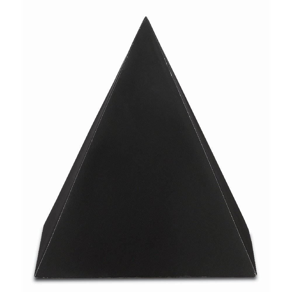 Currey & Company Home Black Large Concrete Pyramid 1200-0047 - Black