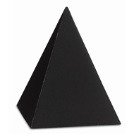 Currey & Company Home Black Small Concrete Pyramid 1200-0046 - Black