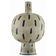 Currey & Company Home Declan Small Vase 1200-0023 - Antique Cream/Black