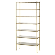 Currey & Company Home Delano Etagere, Tall 4132 - Contemporary Gold Leaf