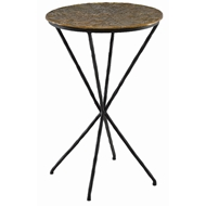 Currey & Company Home Figuier Drinks Table 4000-0059 - Patina Brass/Black