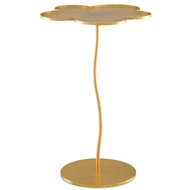 Currey & Company Home Fleur Large Accent Table 4000-0068 - Gold Leaf