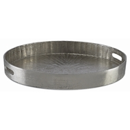 Currey & Company Home Luca Silver Large Tray 1200-0029 - Silver