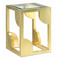 Currey & Company Home Morneau Brass Side Table