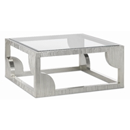 Currey & Company Home Morneau Silver Cocktail Table