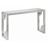 Currey & Company Home Morneau Silver Console Table