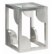 Currey & Company Home Morneau Silver Side Table