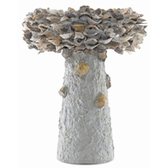 Currey & Company Home Oyster Shell Medium Bird Bath