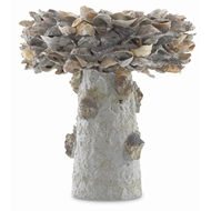 Currey & Company Home Oyster Shell Small Bird Bath 1200-0052 - Natural