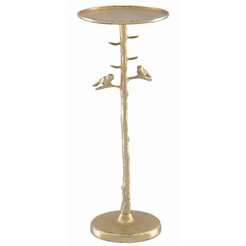 Currey & Company Home Piaf Gold Drinks Table 4000-0063 - Gold