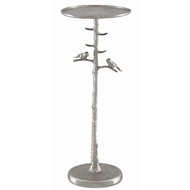 Currey & Company Home Piaf Silver Drinks Table 4000-0064 - Polished Nickel