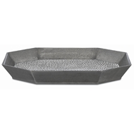 Currey & Company Home Robah Large Tray 1200-0031 - Graphite/White