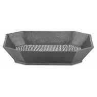 Currey & Company Home Robah Small Tray 1200-0030 - Graphite/White