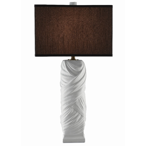 Currey & Company Lighting Alphonse Table Lamp 6000-0385 - White Gesso