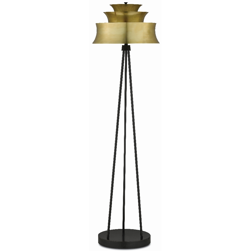 Currey & Company Lighting Altson Brass Floor Lamp 8000-0052 - Polished Brass/Oil Rubbed Bronze