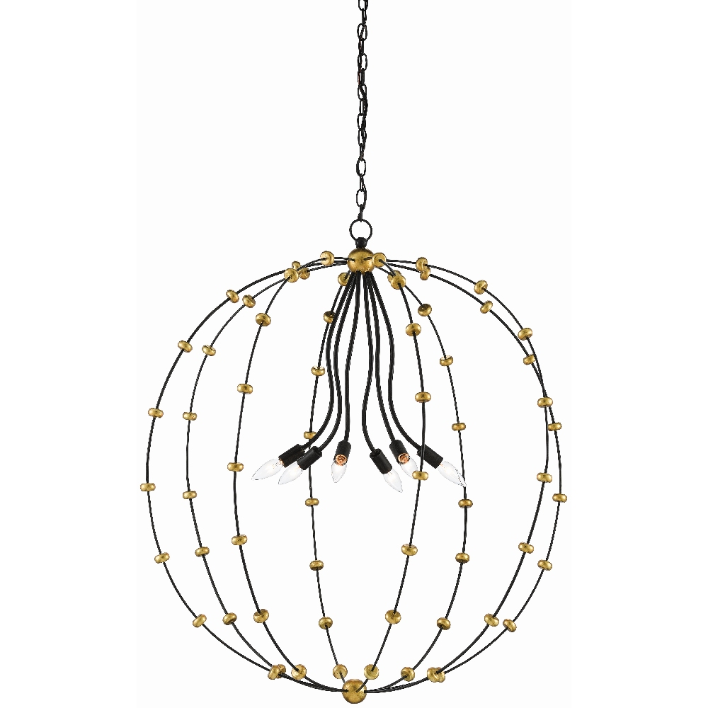 Currey And Company Orb Chandelier: Currey & Company Lighting Anomaly Large Orb Chandelier