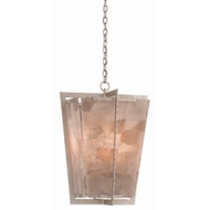 Currey & Company Lighting Berenson Lantern 9000-0390 - Silver Leaf/Smoky Quartz