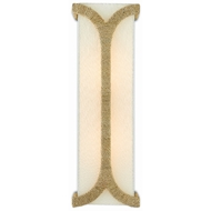 Currey & Company Lighting Carthay Wall Sconce 5000-0109 - Natural/Dark Contemporary Gold Leaf