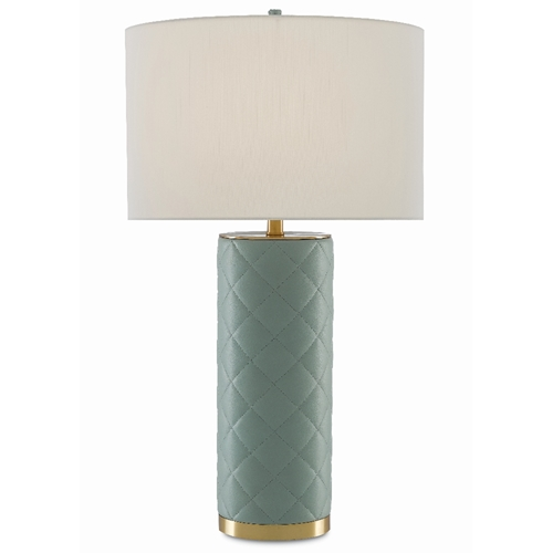 Currey & Company Lighting Chamada Table Lamp 6000-0406 - Seafoam/Brass