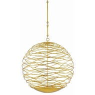 Currey & Company Lighting Chaumont Large Orb Chandelier 9000-0384 - Contemporary Gold Leaf/White