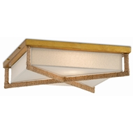 Currey & Company Lighting Connor Flush Mount 9999-0043 - Natural/Dark Contemporary Gold Leaf