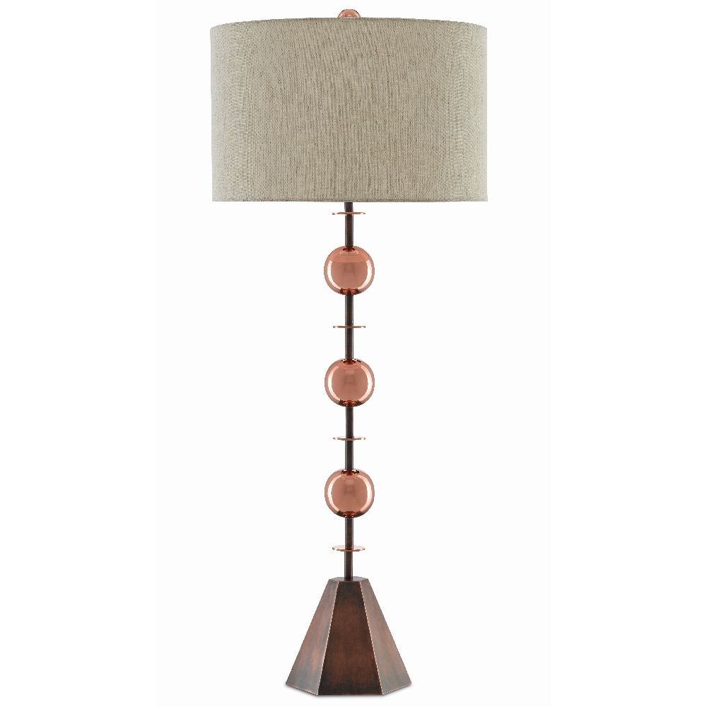 Currey & Company Lighting Coppet Table Lamp 6000-0400 - Copper Antique/Polished Copper