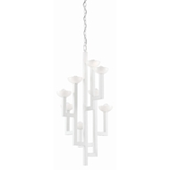 Currey & Company Lighting Coupe Chandelier 9000-0376 - Gesso White/Milk Glass