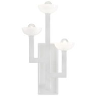 Currey & Company Lighting Coupe Wall Sconce 5000-0111 - White Gesso/Milk Glass