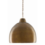 Currey & Company Lighting Earthshine Brass Large Pendant 9000-0425 - Vintage Brass