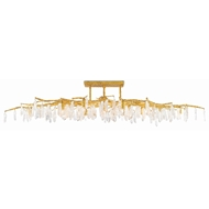 Currey & Company Lighting Forest Light Semi-Flush 9000-0423 - Washed Lucerne Gold/Natural
