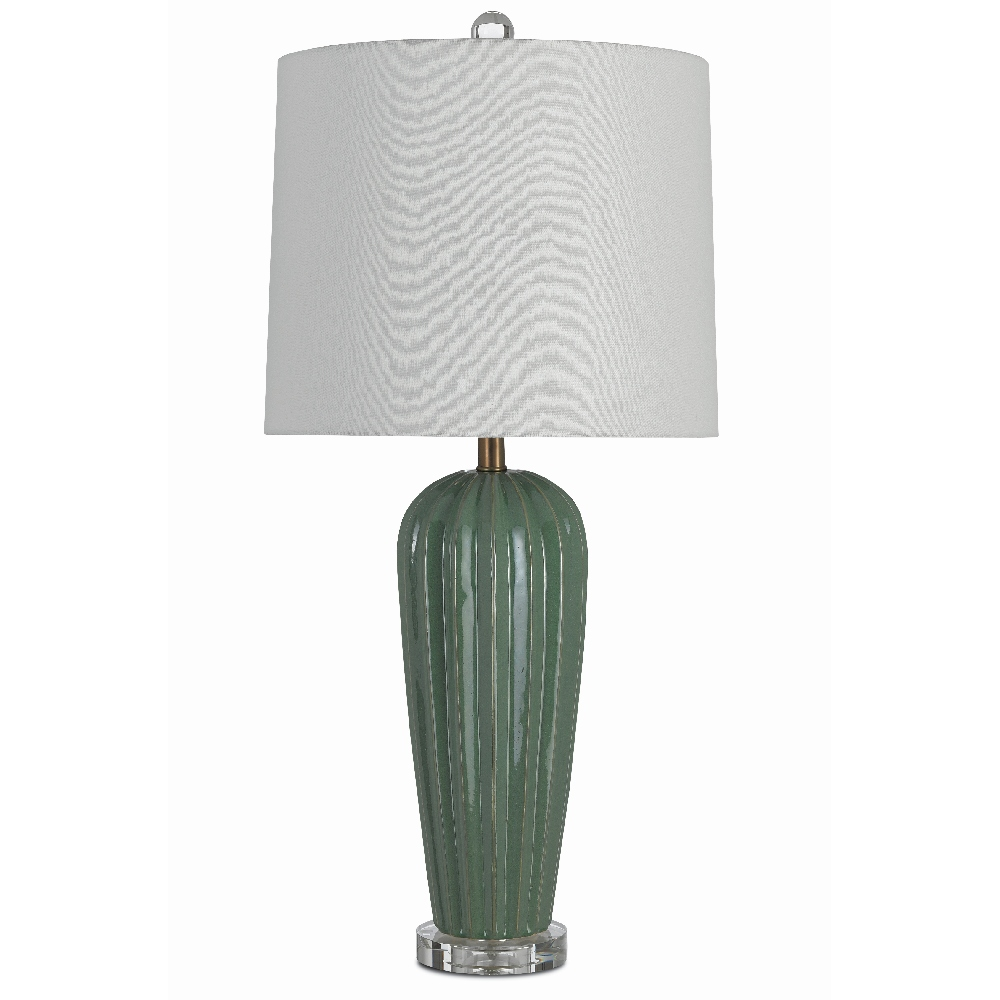 Currey & Company Lighting Ginevra Table Lamp 6000-0383 - Olive/Clear