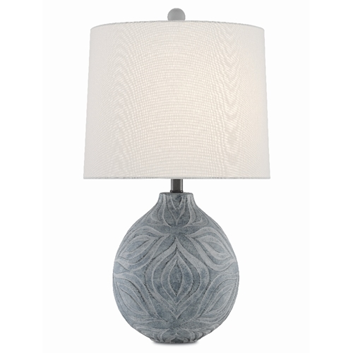 Currey & Company Lighting Hadi Table Lamp 6000-0380 - Gray Stone Wash