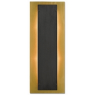 Currey & Company Lighting Harmon Wall Sconce 5000-0117 - Polished Brass/Oil Rubbed Bronze/Frosted Glass