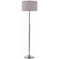 Currey & Company Lighting Harrelson Nickel Floor Lamp