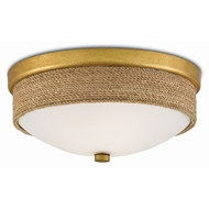 Currey & Company Lighting Hopkins Flush Mount 9999-0044 - Natural/Dark Contemporary Gold Leaf