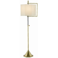 Currey & Company Lighting Hopper Floor Lamp 8000-0056 - Brushed Brass/Oil Rubbed Bronze