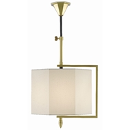 Currey & Company Lighting Hopper Pendant 9000-0434 - Brushed Brass/Oil Rubbed Bronze